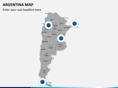 Argentina map PPT slide 4