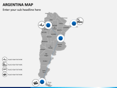 Argentina map PPT slide 5