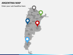 Argentina map PPT slide 6
