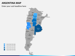 Argentina map PPT slide 8