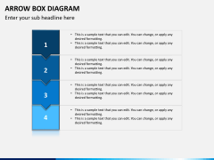 Arrow Box Diagram PPT Slide 1
