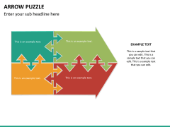 Arrow puzzle PPT slide 11
