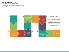 Arrow puzzle PPT slide 12