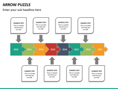 Arrow puzzle PPT slide 14