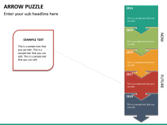 Arrow puzzle PPT slide 15