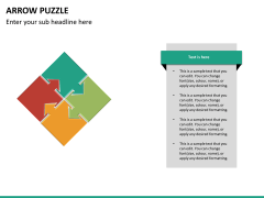 Arrow puzzle PPT slide 16