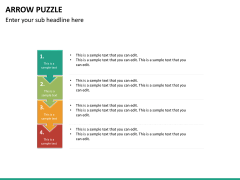 Arrow puzzle PPT slide 17