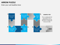 Arrow puzzle PPT slide 2