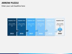 Arrow puzzle PPT slide 3