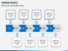 Arrow puzzle PPT slide 4