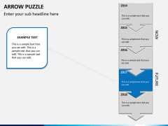 Arrow puzzle PPT slide 5