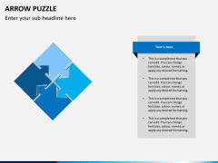 Arrow puzzle PPT slide 6