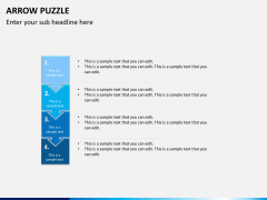 Arrow puzzle PPT slide 7
