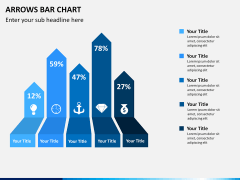 Arrows Bar Chart PPT slide 3