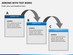 Arrows and Text Boxes PPT Slide 5