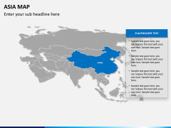 Asia map PPT slide 12