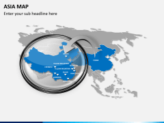 Asia map PPT slide 16