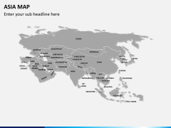 Asia map PPT slide 6