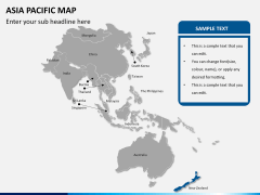 Asia - pacific map PPT slide 10