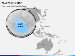 Asia - pacific map PPT slide 11