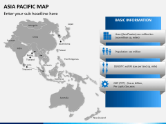 Asia - pacific map PPT slide 13