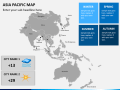 Asia - pacific map PPT slide 14