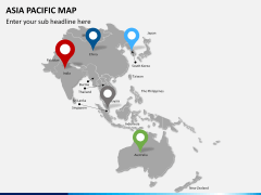 Asia - pacific map PPT slide 4