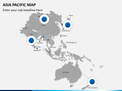 Asia - pacific map PPT slide 5