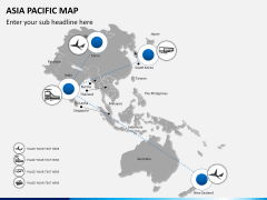 Asia - pacific map PPT slide 6