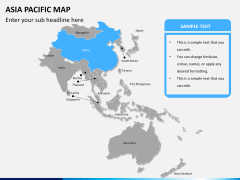 Asia - pacific map PPT slide 7