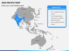 Asia - pacific map PPT slide 8