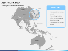 Asia - pacific map PPT slide 9