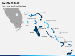 Bahamas map PPT slide 1