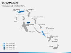 Bahamas map PPT slide 7