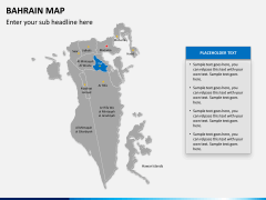 Bahrain map PPT slide 10