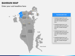 Bahrain map PPT slide 11