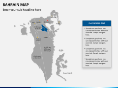 Bahrain map PPT slide 12