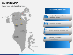 Bahrain map PPT slide 18