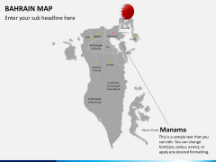 Bahrain map PPT slide 20