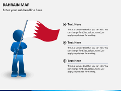 Bahrain map PPT slide 24