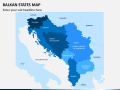 Balkan states map PPT slide 1