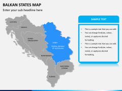 Balkan states map PPT slide 10