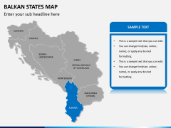 Balkan states map PPT slide 12