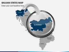 Balkan states map PPT slide 13
