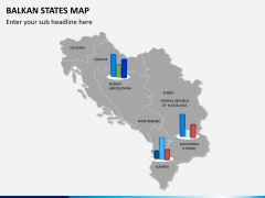 Balkan states map PPT slide 15