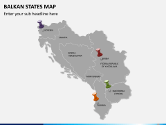 Balkan states map PPT slide 4