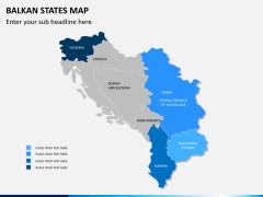 Balkan states map PPT slide 8