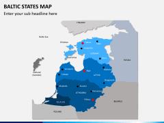Baltic states map PPT slide 1