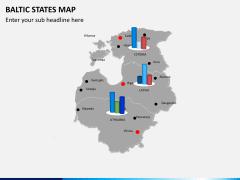 Baltic states map PPT slide 12