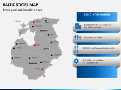 Baltic states map PPT slide 13
